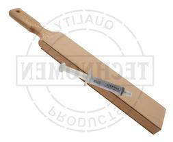KNIFE STRAIGHT SHAVING RAZOR SHARPENING LEATHER STROP AND DI