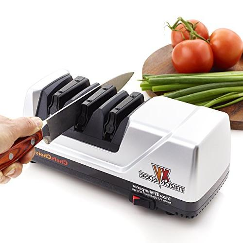 Chef'sChoice 15 Trizor XV EdgeSelect Electric Knife Sharpener Serrated Patented in