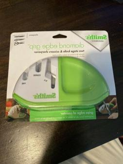 NEW Smith's Diamond Edge Grip Two Stage Knife And Scissors S